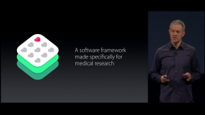 "Jeff Williams unveils ResearchKit at ""Spring Forward"" - image courtesy of PCWorld"